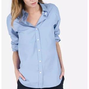 Everlane Blue Relaxed Poplin Button Down Shirt